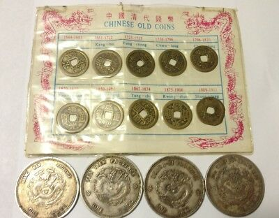 Lot of 14 Vintage replica Old Chinese Dynasty Coins ~