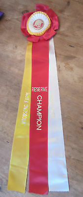 Vintage Woodsong Farm Reserve Champion Horse Show Ribbon - Mint Condition
