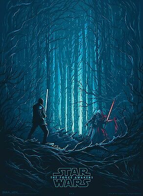 Star Wars: The Force Awakens IMAX Poster Kylo Ren Finn J.J Abrams A4+