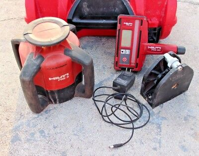 Hilti PRE 3 Rotary Laser With PRA 21 Receiver Case Charger & FREE SHIPPING!!