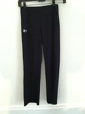 3 Under Armour youth size small black pants YSM YS athletic workout lot fitness