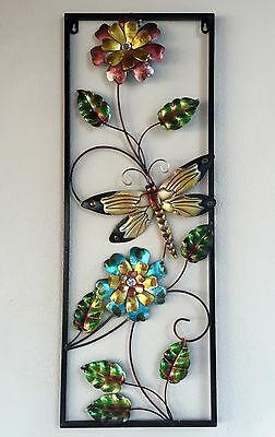 Flower in Frame wall hanging metal art
