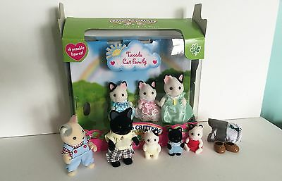 Calico Critters Sylvanian Families Cat family - extended