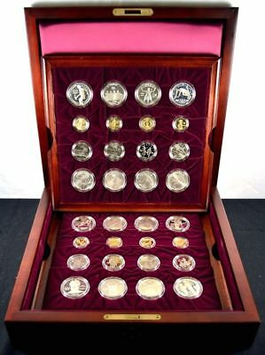 1995 & 1996 U.S. Atlanta Olympic Complete 32 coin Gold & Silver  Proof & Unc Set