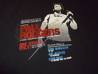 Paul Rodgers Rare Tour Shirt ( Used Size L ) Very Good Condition!!!
