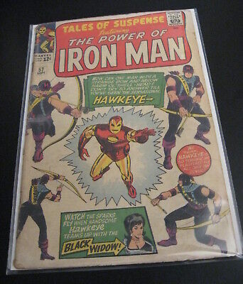 TALES OF SUSPENSE #57 1964 1st HAWKEYE! Marvel Silver Age Key! (VG-)