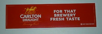 Carlton Draught Beer original brand new sticker decal for home bar collector