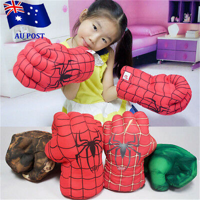 Spider Man Smash Hands Soft Toy Doll Boxing Gloves Big One Pair Funny Cosplay EA