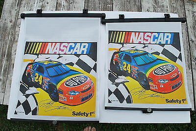 "2 - Safety 1st ""suction cup"" Sun Screen - 24 Jeff Gordon - NICE!!"