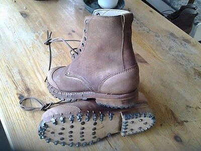 military reproduction ww2 alpini mountain boots/ Italian infantry made in Italy.