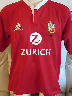 British Lions Rugby Shirt - New Zealand 2005 Tour - Large - Iain