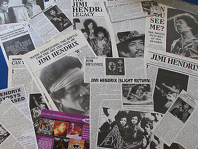 Joblot of Articles & Cuttings - Jimi Hendrix
