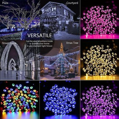 Solar String Lights 100-300 LED Multi Outdoor Garden Party Christmas Fairy Lamp