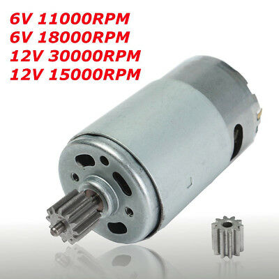 6v 18000 rpm electric motor gear box for kids ride on car for Electric motors for kids
