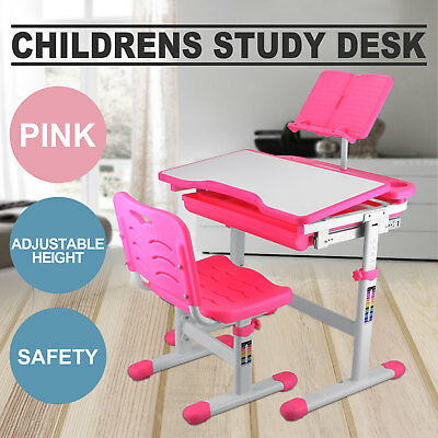 Kids Study Table And Chair ADJUSTABLE HEIGHT READING PAD SAFE SMART LOCAL