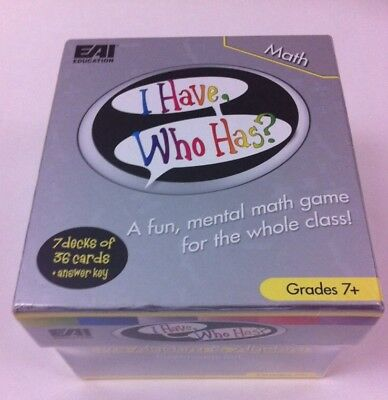 New EAI Education I Have, Who Has? Pre-Algebra & Algebra Educational Card Games