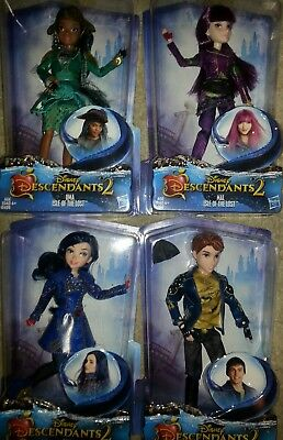 (4) Disney Descendants 2: ISLE OF THE LOST Doll Figures UMA MAL KING BEN & EVIE