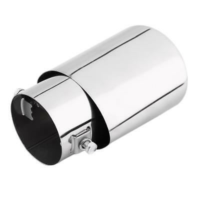 Universal Chrome Stainless Steel Car Rear Round Exhaust Pipe Tail Muffler Tip B☆