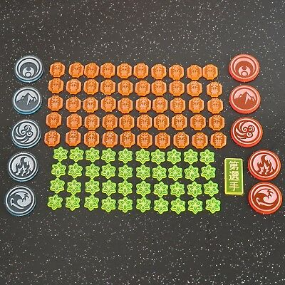 Legend of the Five Rings (L5R) Token Set - Acrylic / Perspex