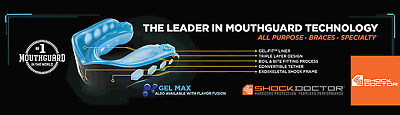 NEW Shock Doctor Mouthguard - GEL MAX Mouth Guard Boxing Muay Thai MMA Sparring