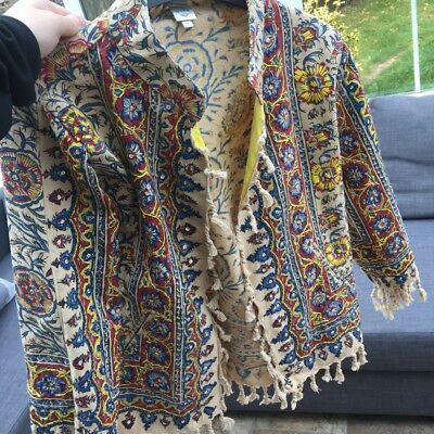 Vintage Embroidered Tassel Tapestry Jacket From Anthropologie