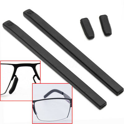 969836c7c680 4Pcs set Black Silicone Gel Cover Temple Tips Pad For ic! berlin Glasses  Frame