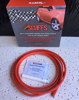 RED SCUFFS by Rimblades Car Tuning Alloy Wheel Rim Protectors 1 STRIP ONLY