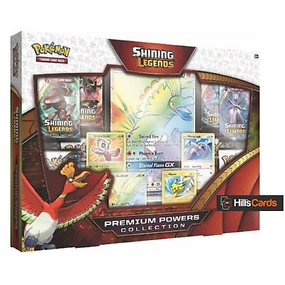 Pokemon Shining Legends Premium Powers Collection Box: Booster Packs Promo Cards