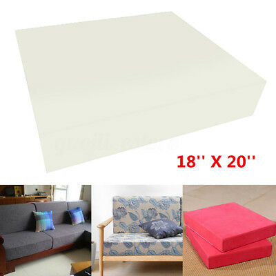 18''X20'' White High Density Seat Foam Rubber Replacement Upholstery Cushion Pad
