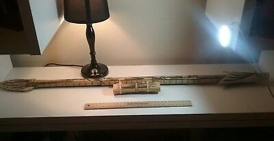Indonesian Hunting Carved Blowgun - about 90cm long - Includes 4 darts