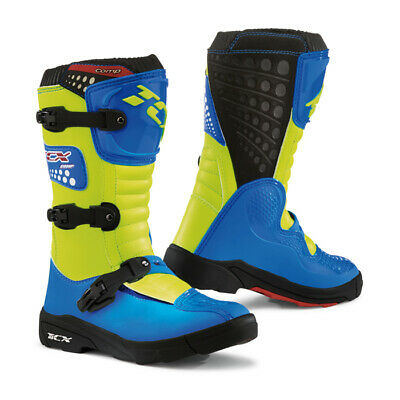 Stivale Off Road Tcx X Blast Royal Blue/yellow Fluo
