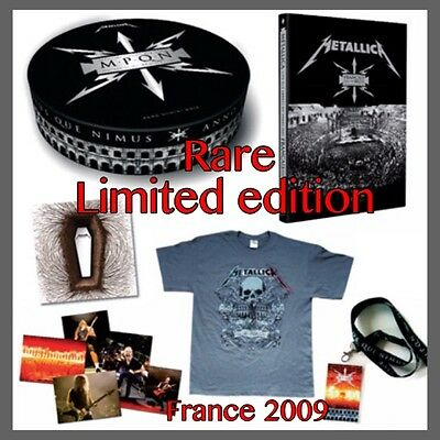 Sealed Limited Edition Metallica Box Set 2009 Francais Pour Une Nuit Dvd & Cd
