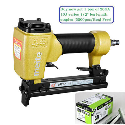"meite 1022J 20GA 7/16"" Crown Fine Wire Stapler Pneumatic Upholstery Stapler"