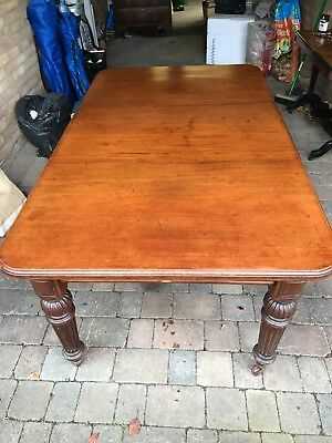 Antique Mahogany Dining Table, wind out, C.1910. Full length 180 cm.