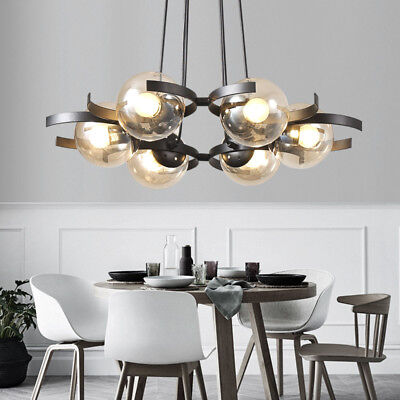 Black Chandelier Lighting Kitchen Lamp Glass Pendant Light Modern Ceiling Lights