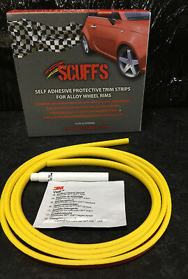 YELLOW SCUFFS by Rimblades Car Tuning Alloy Wheel Rim Protectors 1 STRIP ONLY