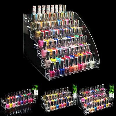 Acrylic Makeup Nail Polish Storage Organizer 2/3/4/5/6/7 Tier Rack Display Stand