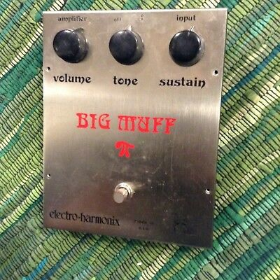Vintage Electro Harmonix Big muff pedal enclosure and knobs . ram head Version 2