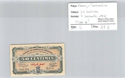 Billet France - Chambre De Commerce Constantine - 50 Centimes - 7 Novembre 1916