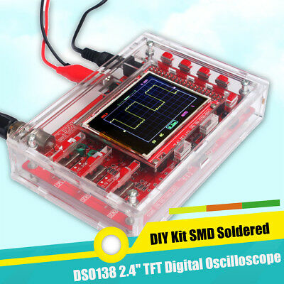 "DSO138 2.4"" TFT LCD Digital Oscilloscope Kit Acrylic Case DIY Part Cover SMD Set"