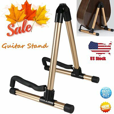 A-Frame Folding Universal Acoustic Electric Bass Guitar Floor Stand Holder JY