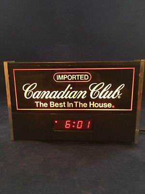 Vintage Canadian Club lighted Sign with Clock
