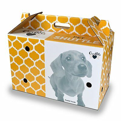 OurPets Cosmic Dog and Cat Shuttle Cardboard Carrier Locking with Solid Bottom