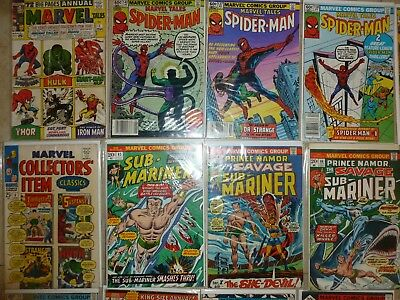 Mix lot contains Marvel Tales 1 mostly bronze all Marvel 48 comics.