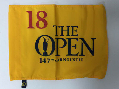 Genuine 2018 The Open 147th Golf Pin Flag Carnoustie