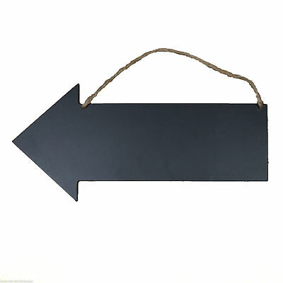 Double Sided Arrow Shaped Hanging Chalkboard Door Sign Party Wedding