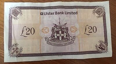 Northern Ireland Ulster Bank limited £20 Note ** RARE**