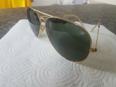 Genuine B&l Vintage Ray ban Aviators 62/12