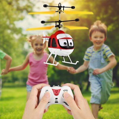 Induction Flying Toy RC Helicopter Cartoon Remote Control Drone Kid Plane Toy UK