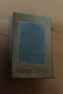 German WWII Gebirgs Division cigarette box